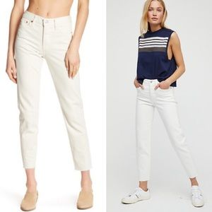 Levi's Wedgie Icon High Rise Jeans White